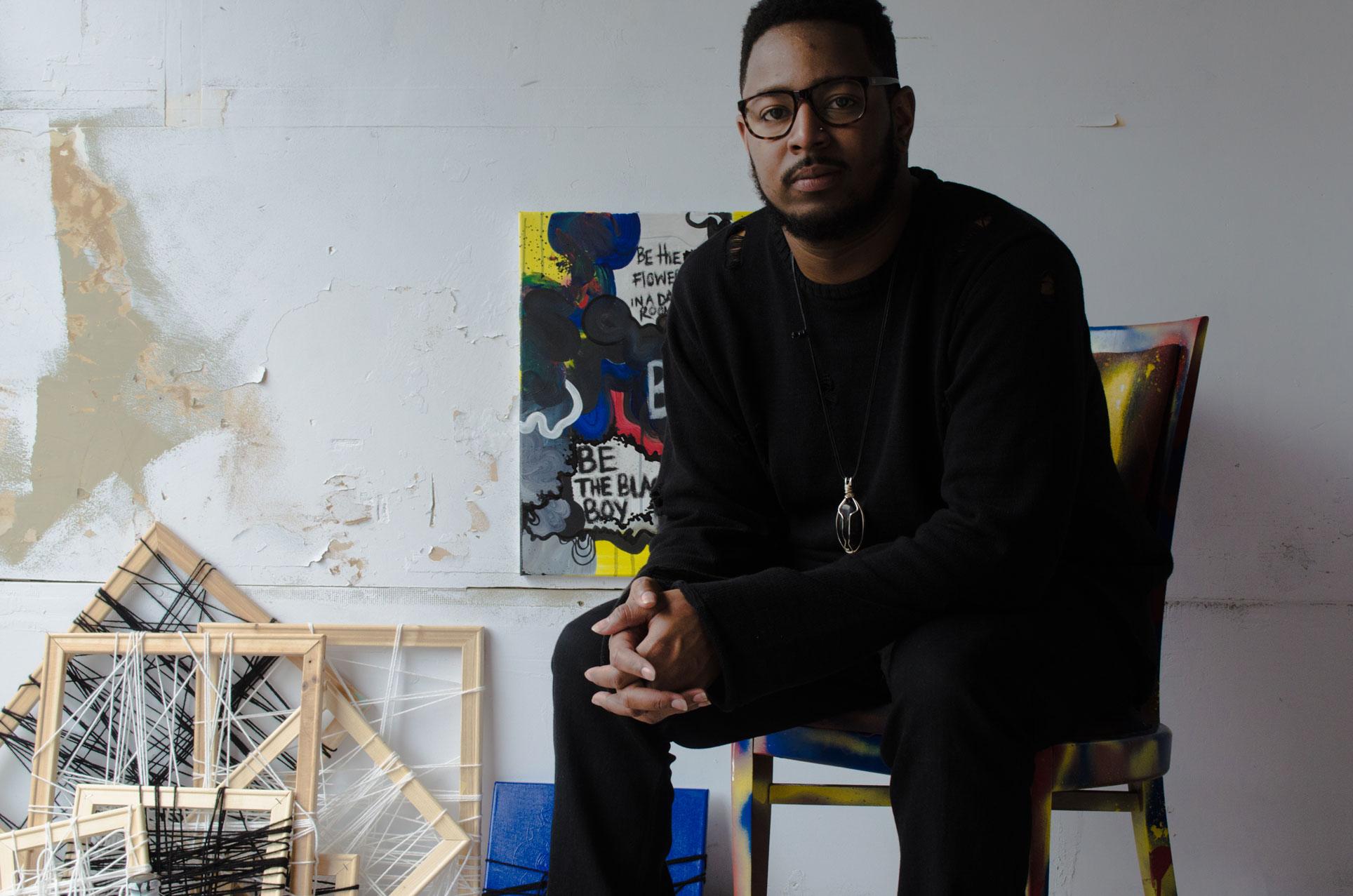 Artist Reece Moore in his Tampa Studio